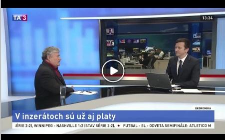 TA3 V. Sirotka o zverejňovaní platov v inzerátoch V. Sirotka o zverejňovaní platov v inzerátoch 4.5.2018