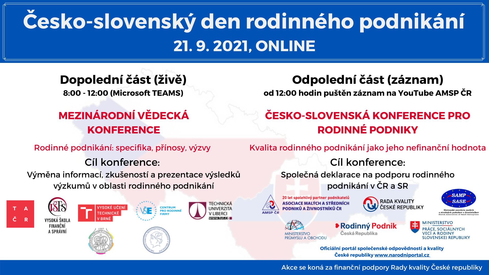 Česko-slovenský deň rodinného podnikania – pozvánka